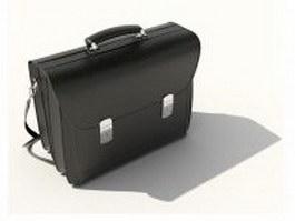 Mens leather messenger bag 3d model preview