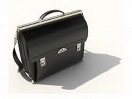 Black briefcase bag for men 3d model preview