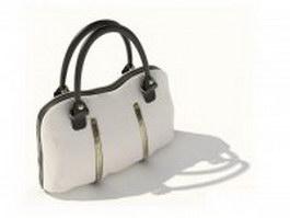 Street style white handbag 3d model preview