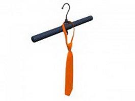 Orange paisley tie 3d preview