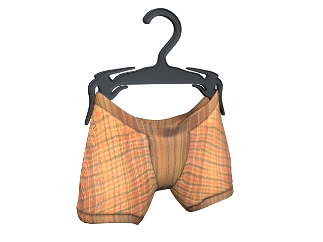 Low rise boxer briefs 3d rendering
