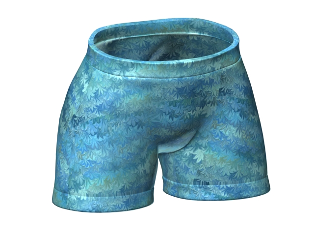 Boxer shorts for men 3d rendering