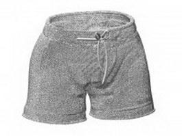 Men's board shorts 3d preview