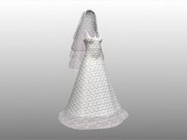 Wedding dress 3d preview