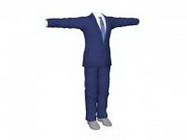 Blue business suits for men 3d preview