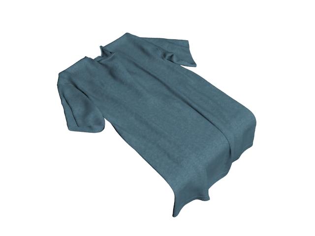 Navy blue T-shirt 3d rendering