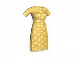 Print sheath dress 3d preview