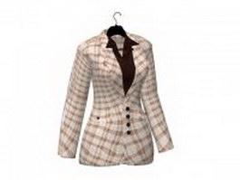 Women's suit jacket on hanger 3d preview