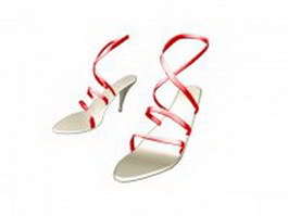 Sandals for women with heels 3d preview