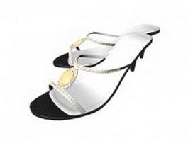 High heel sandals 3d preview