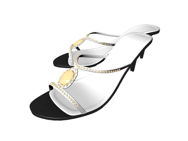 High heel sandals 3d rendering