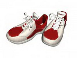 Athletic running shoes 3d model preview