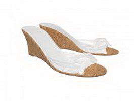 Slip on Wedge sandals 3d model preview