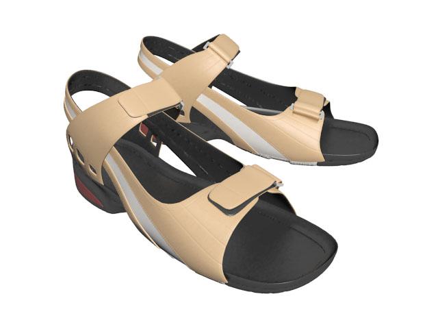 Sandals for men 3d rendering