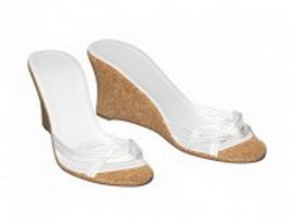 Wedge mule sandals 3d preview