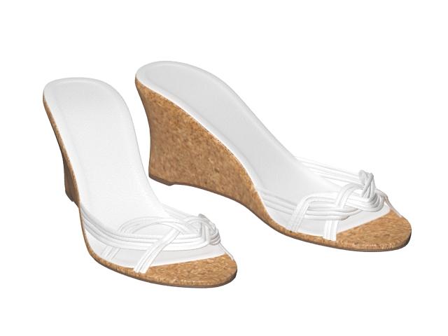 Wedge mule sandals 3d rendering