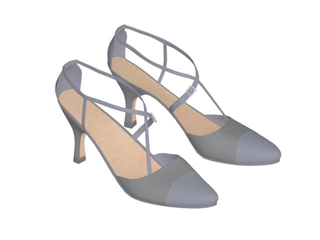 Ladies' ballroom shoes 3d rendering