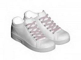 White tennis shoes 3d model preview