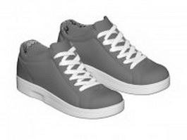 Men's skateboard shoe 3d model preview