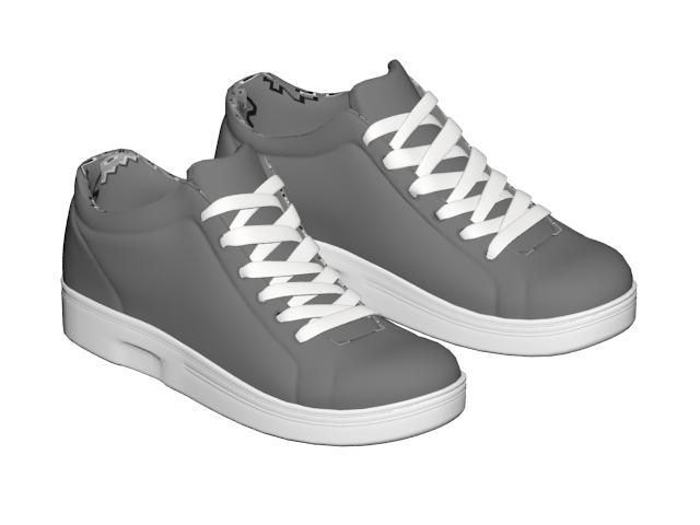 Men's skateboard shoe 3d rendering