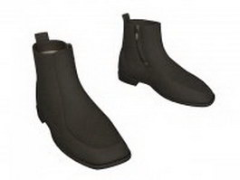 Ankle boot for men 3d model preview