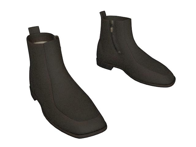 Ankle boot for men 3d rendering