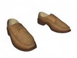 Brown casual shoes for men 3d preview