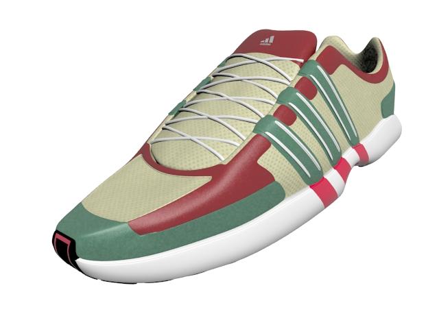 Adidas sneakers 3d rendering