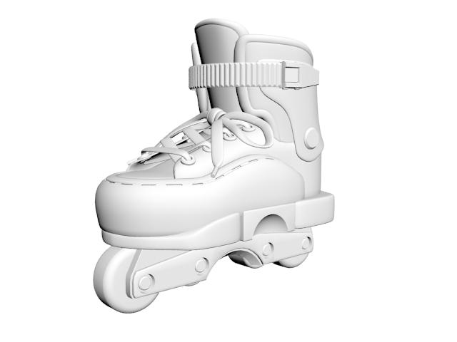 Inline skates 3d rendering