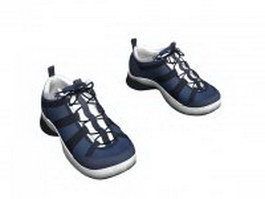 Men's running shoes blue 3d preview