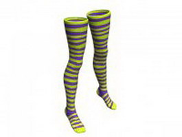 Striped Nylon stockings 3d preview
