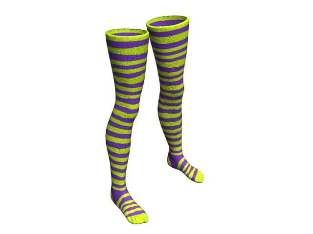 Striped Nylon stockings 3d rendering