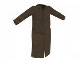 Men's chesterfield coat 3d preview