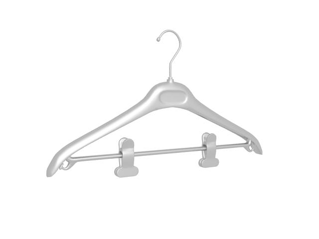 Coat and trousers hanger 3d rendering