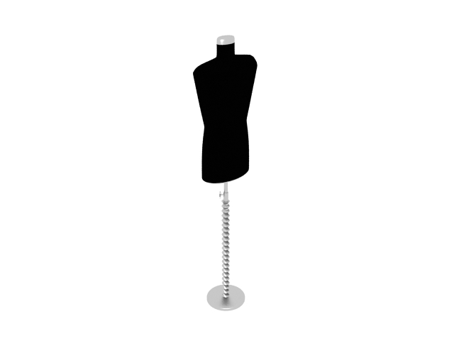 Dress form stand 3d rendering