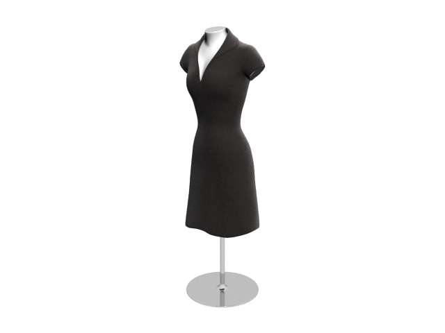 Female mannequin stand with dress 3d rendering