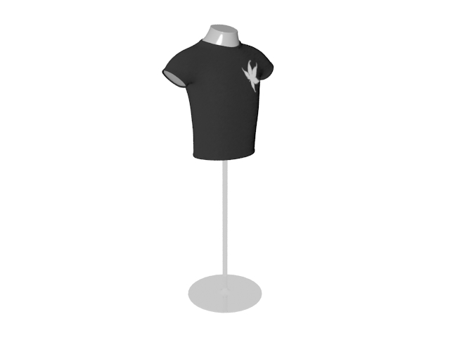 Male dress form stand 3d rendering
