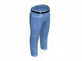 Light blue jeans 3d preview