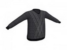 V neck sweaters with hanger 3d preview