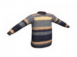 Pattern sweater for men 3d preview