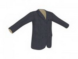 Men's suit coat 3d preview