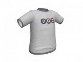 Cotton T-Shirt for men 3d model preview