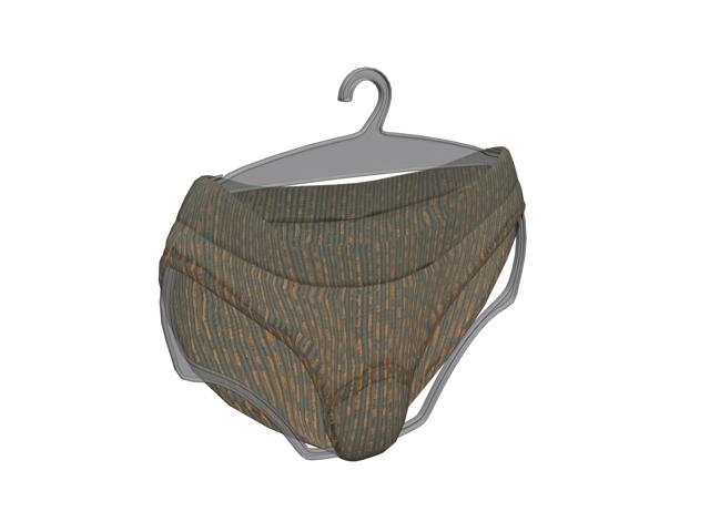 Men brief underwear 3d rendering
