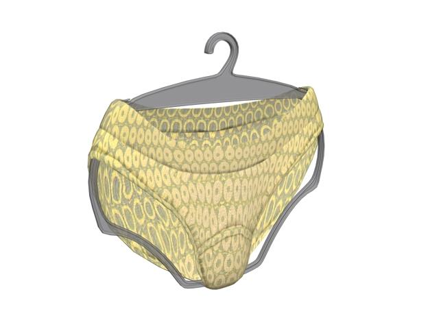 Men underwear sexy brief 3d rendering