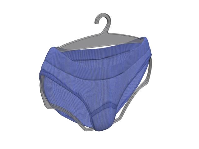Light blue panties 3d rendering