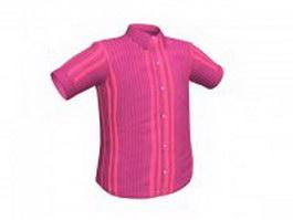 Short sleeve shirt for men 3d preview