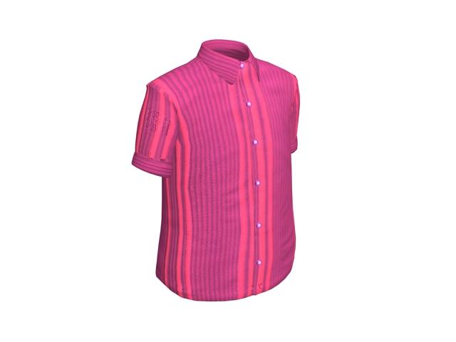 Short sleeve shirt for men 3d rendering