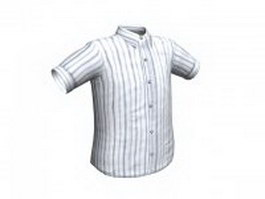Striped shirt for men 3d model preview
