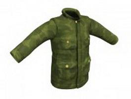 Camouflage coat for men 3d model preview