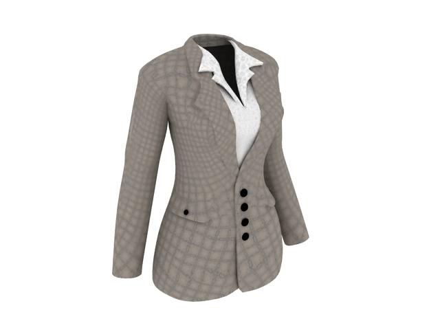 Work jacket for women 3d rendering